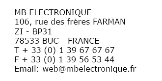 Adresse MB Electronique